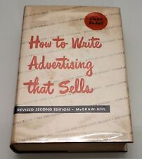How to Write Advertising That Sells by Clyde Bedell 2nd Edition 1952 Hardcover