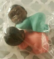 AFRICAN AMERICAN  TOPPER DIAPER CUPCAKES BABY SHOWER CAKE GIFT FAVOR BIRTHDAY