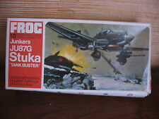 MAQUETTE 1/72 VINTAGE FROG REF F195 JUNKERS JU 87 G STUKA TANK BUSTER AVION