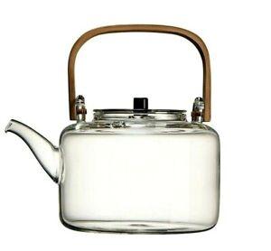 Glass Teapot Heat-resistant Explosion-proof Boiled Teapot Bamboo Handle Beam Pot
