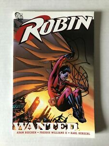 Robin Wanted Rare OOP Paperback TPB/Graphic Novel Beechen DC Comics 2007 Red Tim
