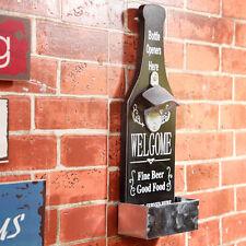 Individual Wall Mounted Beer Bottle Opener Beer Cap Catcher Bar Shop Decoration