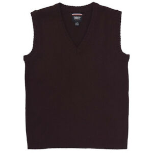 Kids Burgundy Vest Sweater V-Neck French Toast School Uniform Size XS to XXL