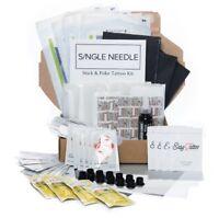 Single Needle HAND POKE Home Self Tattoo DIY Kits *All Types* Fast Discreet UK
