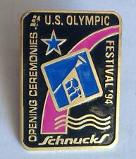 US Olympic Opening Ceremony 1994 Festival Schnucks Pin Badge Rare Vintage (F1)