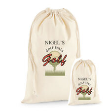 Personalised Golf Ball Bag, Tees Bag,  Great gift Dad, Grandad, Uncle Christmas