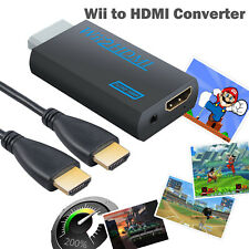 Wii to Hdmi Converter Adapter 3.5mm Audio Video Output & Hdmi Cable For Nintendo