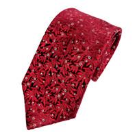 """Givenchy Gentleman Paris Men's Necktie Silk Tie Steve Gordon's Red Floral 58.5"""""""
