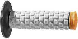 "Pillow Top MC Grips Black/Grey/Orange 024855 For 7/8"" Bars w/ Twist Throttle"