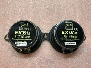 Polk Audio EX351a 3.5in. Car Speakers System Very Good Condition  Sold in Pairs