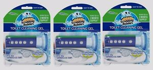 3pk SCRUBBING BUBBLES 18 Bowl Cleaning Gel Stamps w/ 3 Dispenser Fresh Citrus!