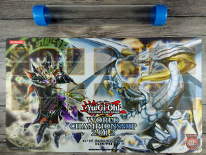 WC 2012 Legendary Dragon of White &  Magician of Dark Custom Playmat Free Tube
