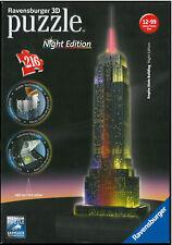 Ravensburger 12 566 1 Empire State Building bei Nacht 3D Puzzle mit LED Licht