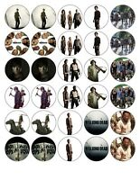 30 x4cm THE WALKING DEAD 15 IMAGES. EDIBLE WAFER/FONDANT PAPER CUP CAKE TOPPERS