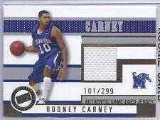 2006 Press Pass Basketball Rodney Carney Memphis Jersey Card #101/299