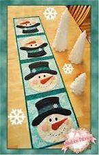 PATCHWORK SNOWMAN TABLE RUNNER Shabby Fabrics Table pattern Quilting Crafts,