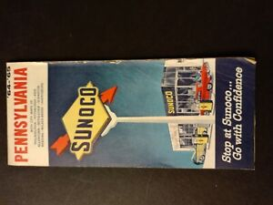 Sunoco 1964 - '65 Pennsylvania Gas Station Road Map
