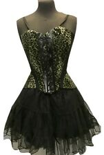 Lo Steampunk/Gotico Corsetto Verde Militare Animale Vestito Da Tea Party Vestito da SDL