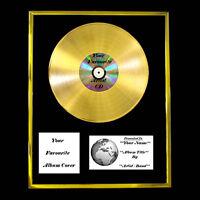 YOUR OWN PERSONALISED GOLD PLATINUM DISC ALBUM SINGLE RECORD AWARD PRESENTATION
