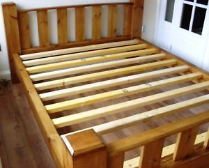Solid Wooden CHUNKY Style King Size Bed Frame - ISLA Deluxe Range