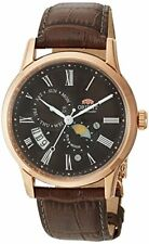 Orient Men's Sun and Moon Version 3 Stainless Steel Automatic Watch FAK00003T0