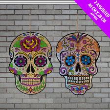 2 X Halloween Día de los muertos Decoraciones Colgantes Brillo cráneo láser Sparkle