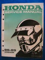 Honda 1986-1989 XR250R  Original Factory Service Shop Repair Manual XLNT P725