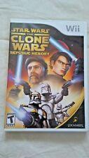 Nintendo Wii Star Wars The Clone Wars Republic Heroes Multiplayer Teen 2008