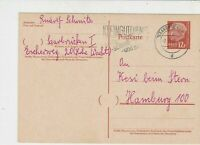 Germany SAAR 1958 Saarbrucken Cancel Slogan Stamps Card to Hamburg Ref 25234
