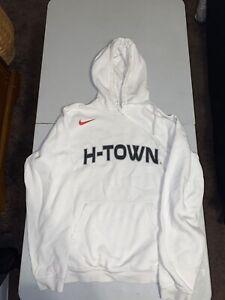 Nike Houston Rockets NBA City Edition Logo Pullover Hoodie Sweatshirt Astros M