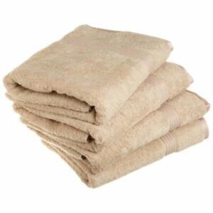 Superior Egyptian Cotton 4-Piece Bath Towel Set Taupe