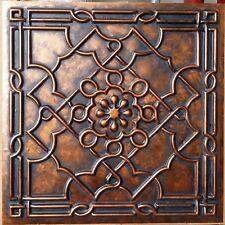 Ceiling tiles Archaic coppery faux tin backdrop cafe club panels PL09 10tile/lot