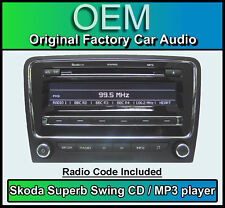 Skoda Swing CD MP3 player, Superb car stereo headunit, Supplied with radio code