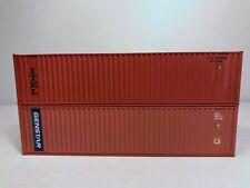 HO Walthers (2) 40' Intermodal Containers ITEL/Genstar, ITLU & GSTU