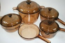Corning Vision Cookware Amber Set 9 Pieces Usa & France Skillet (1)