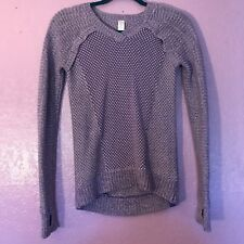 Ivivva by Lululemon Busy To Be Cozy Sweater Pullover Thumbholes Purple Girls 10
