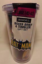 BATMAN Boxer Brief & Tumbler Gift SET Small NEW BioWorld DC Comics