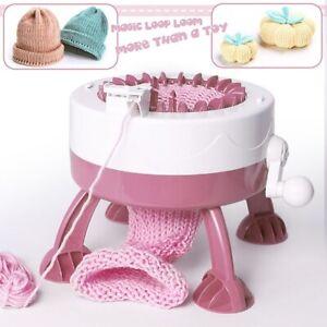 22 Needle DIY Hand Knitting Machine Weaving Loom Kit Kids Toy for Scraf Hat Sock