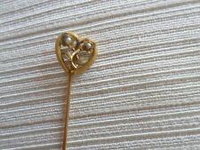 Ancienne  Épingle à Cravate/chapeau-OR MASSIF 18K-petites perles- Solid GOLD
