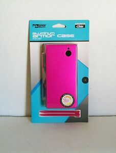 NEW Sealed Hot Pink Aluminum Shell with 2 Stylus Pens for Nintendo DSi       #Z9
