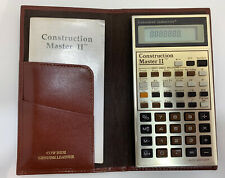 Vintage 1988 Construction Master II Building Calculator: Genuine Leather Case