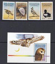 UGANDA: 1985 Audubon Birds set 1+Miniature Sheet  SG480-3+MS484 MNH