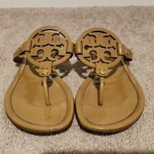 Tory Burch Miller Patent Sand Sandals Size 8