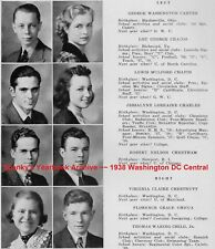 1938 Washington DC Central High School Yearbook~Photos~History~Football~Cadets++