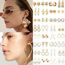 Fashion Large Circle Geometry Metal Ear Stud Earrings Women Modern Jewelry 2019