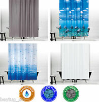 Antibacterial Shower Curtains, Different Sizes, Extra Wide, Narrow or Long
