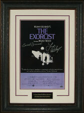 Linda Blair signed The Exorcist 11x17 Movie Poster Leather Framed Sweet Dreams