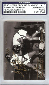 Floyd Patterson Autographed 1996 Upper Deck US Olympic Card #16 PSA/DNA 83827042