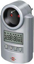 PROGRAMMATEUR LCD JOURNALIER HEBDOMADAIRE 20 PROGRAMMES 12/24H SUR PRISE SECTEUR