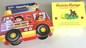 PreK Board Book Lot: Curious George &Fisher Price Concepts Books Speech Therapy